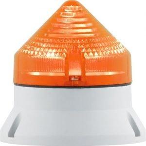Blinkelampe i orange med glødepærer